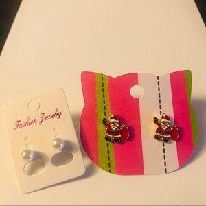 Jewelry - Christmas Santa earring set